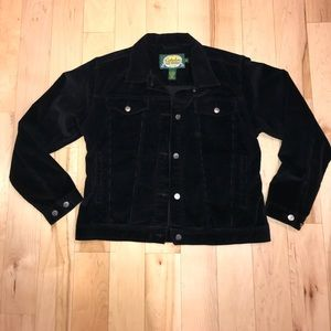 Cabela's Black Corduroy Jacket Medium